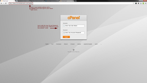 Figure 1: Finding your cPanel.