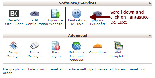 Figure 3: Fantastico De Luxe - Your software installation tool.