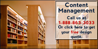 Call 1-888-863-3033 for more information about our Content Management System Design Package.